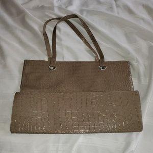 Tan Vegan Leather Tote Bag NWOT